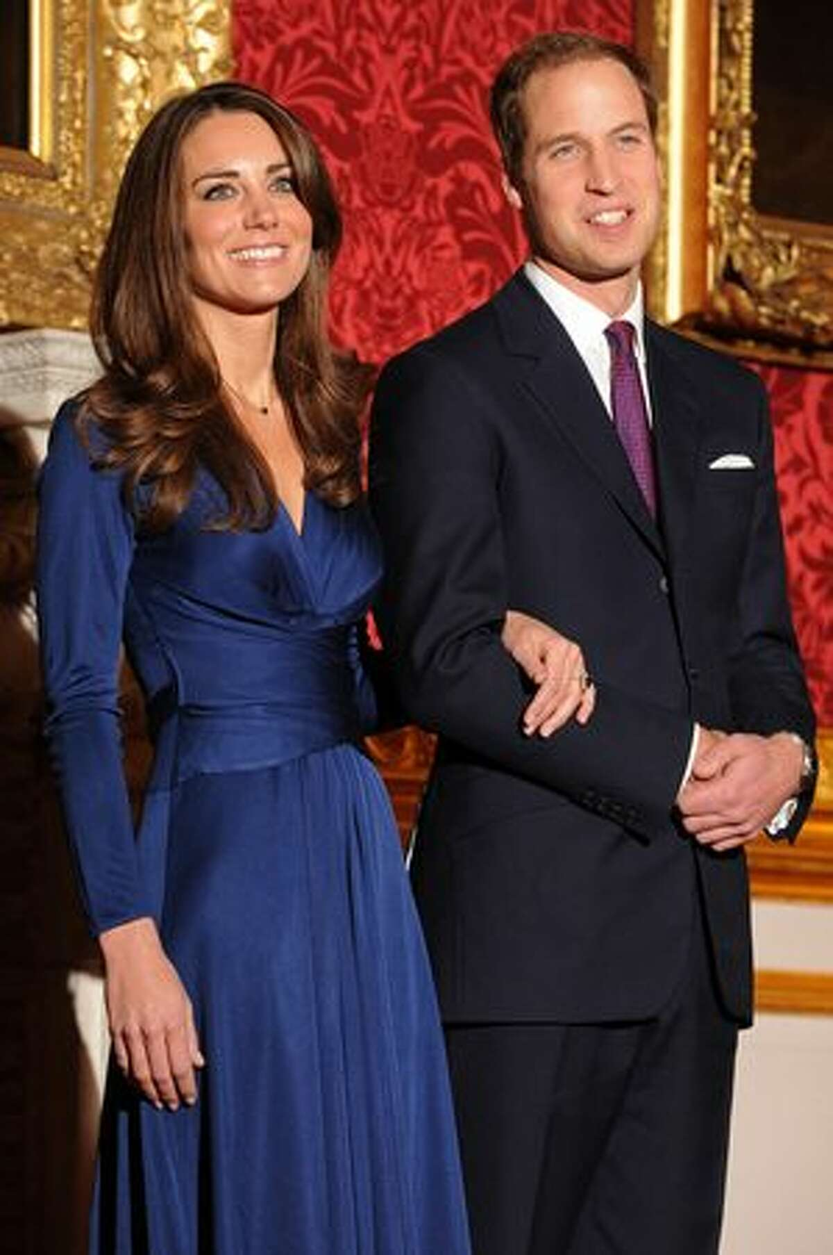 Britain's Prince William and his fiancée Kate Middleton pose for photographers during a photocall to mark their engagement in the State Rooms of St James's Palace, London, on Nov. 16, 2010. Prince William will marry his girlfriend Kate Middleton next year, the royal family said, in the biggest royal wedding in Britain since his parents Charles and Diana married in 1981. The announcement ended feverish speculation about when the second-in-line to the throne would wed, after a romance that has already lasted nearly eight years.