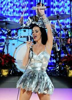 Singer Katy Perry performs onstage. Photo: Getty Images