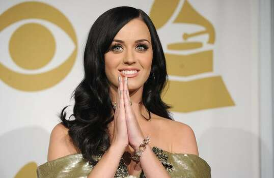 Singer Katy Perry poses in the press room. Photo: Getty Images