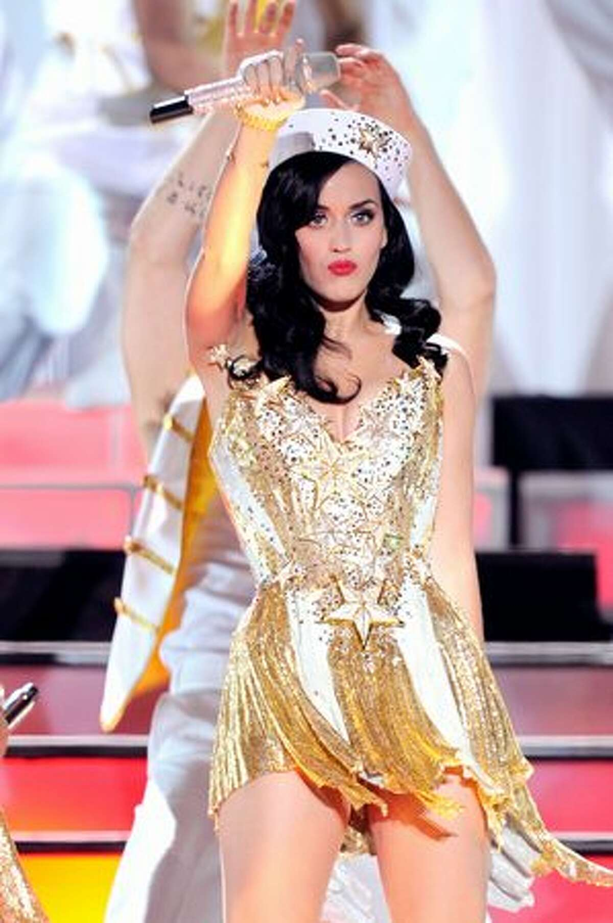 Singer Katy Perry performs onstage.