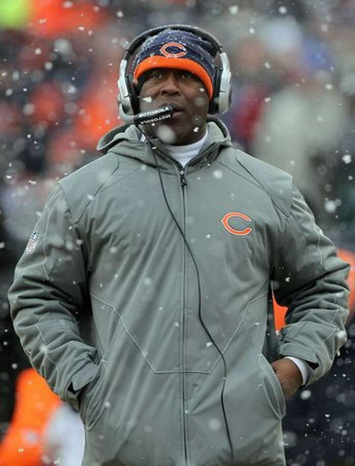 CHICAGO, IL - JANUARY 16: Head coach Lovie Smith of the Chicago Bears looks on in the first half against the Seattle Seahawks in the 2011 NFC divisional playoff game at Soldier Field on January 16, 2011 in Chicago, Illinois. Photo: Getty Images