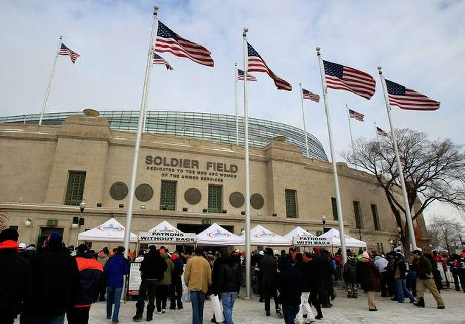 CHICAGO, IL - JANUARY 16: A general view of the exterior of Soldier Field before the 2011 NFC divisional playoff game between the Chicago Bears and the Seattle Seahawks on January 16, 2011 in Chicago, Illinois. Photo: Getty Images
