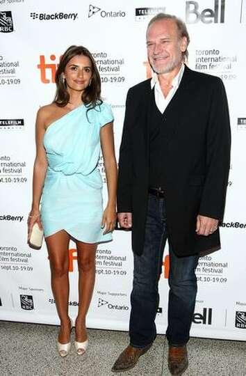 Actress Penelope Cruz (L) and actor Lluis Homar arrive at the Toronto International Film Festival pr