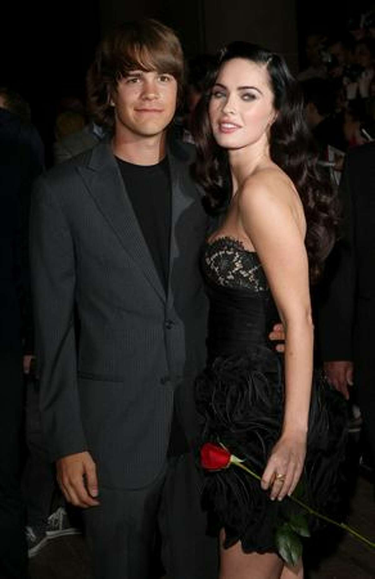 """Actor Johnny Simmons (L) and actress Megan Fox arrive at the Toronto International Film Festival Midnight Madness screening """"Jennifer's Body"""" held at the Ryerson Theatre on September 10, 2009 in Toronto, Canada."""