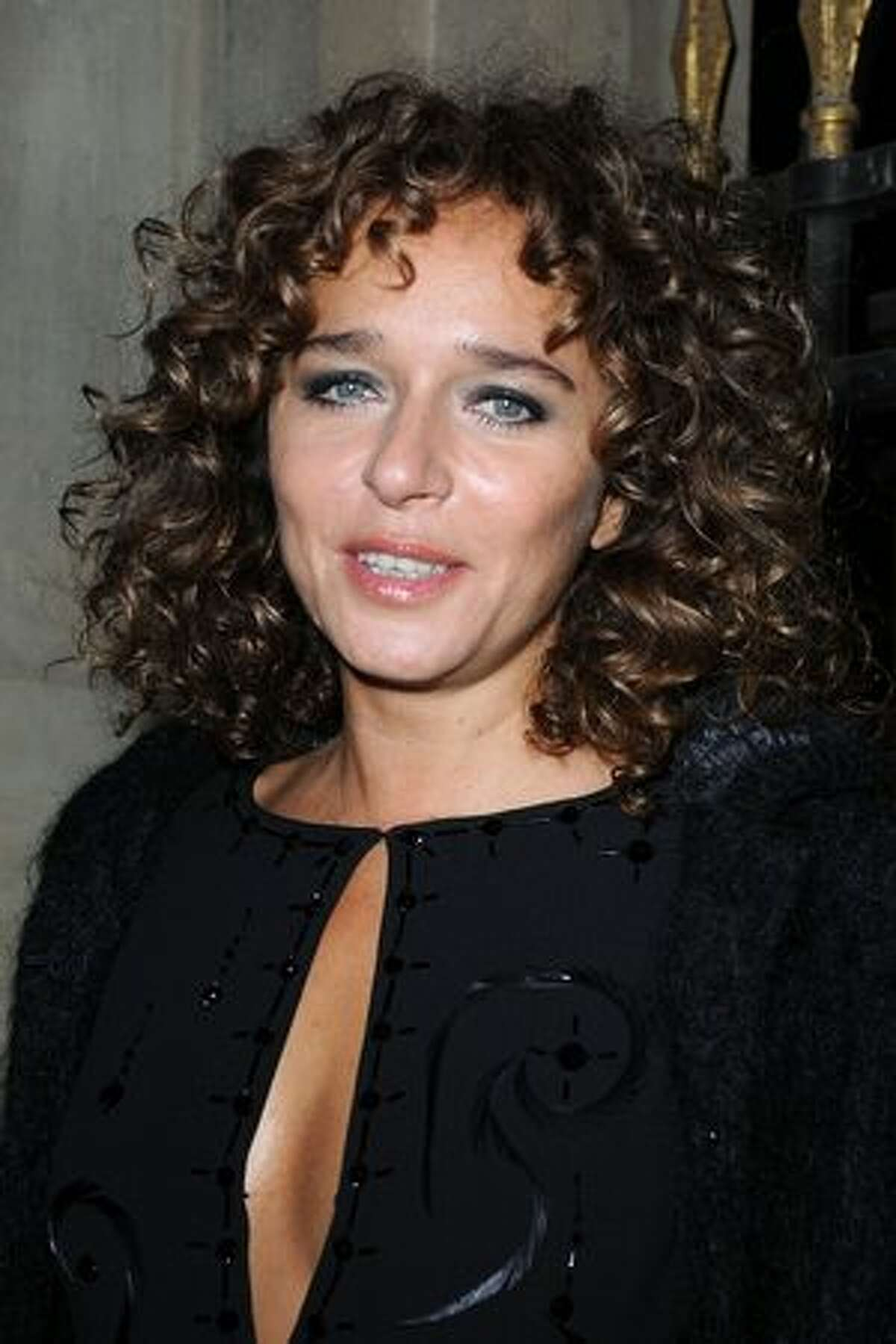 Valeria Golino attends the Miu Miu Ready to Wear Spring/Summer 2011 show during Paris Fashion Week in Paris, France.