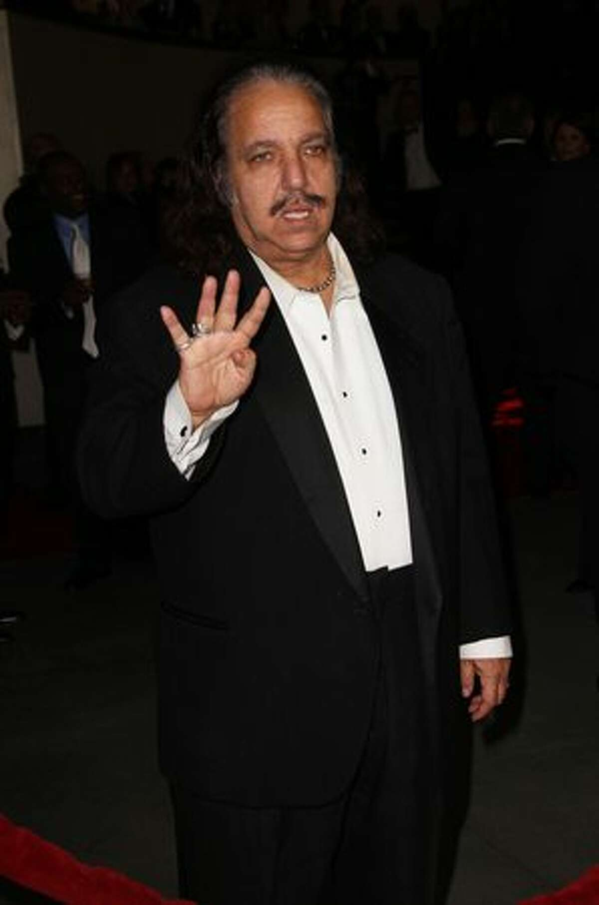 Actor/director Ron Jeremy arrives.