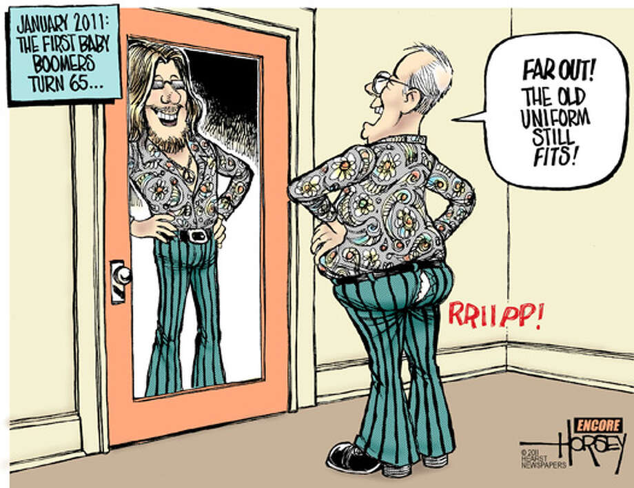 First Baby Boomers hit 65 Photo: David Horsey, Seattle Post-Intelligencer