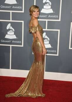Model Heidi Klum arrives at The 53rd Annual GRAMMY Awards held at Staples Center in Los Angeles, California. Photo: Getty Images