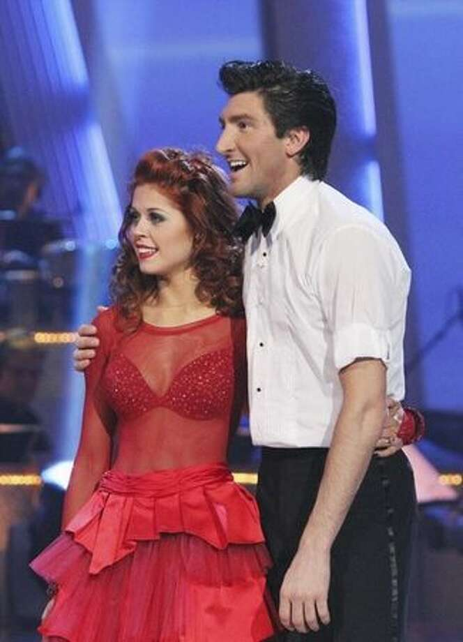 They receive only a 24, for a two-dance total of 52, three points behind Erin and Maks. Photo: ABC