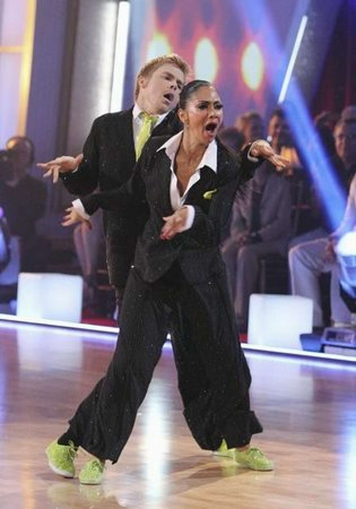 Nicole and Derek perform their freestyle dance.