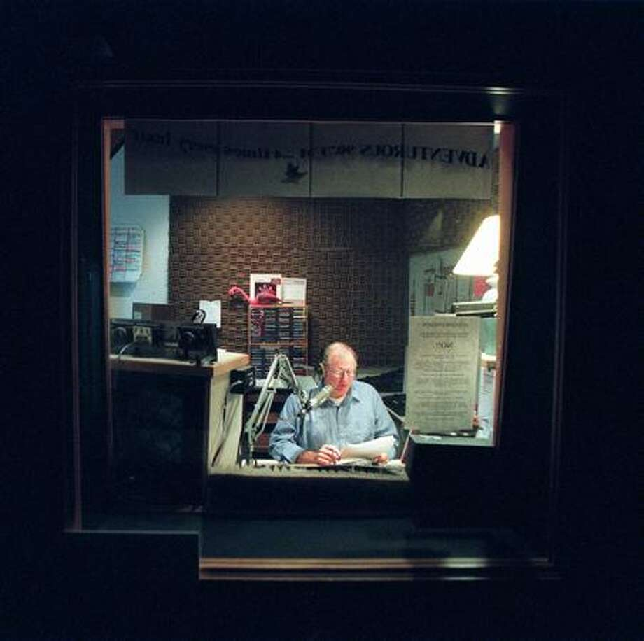Ed Bremer shown at KSER 90.7 FM, a community radio station in Lynnwood, in 2000. Photo: P-I File