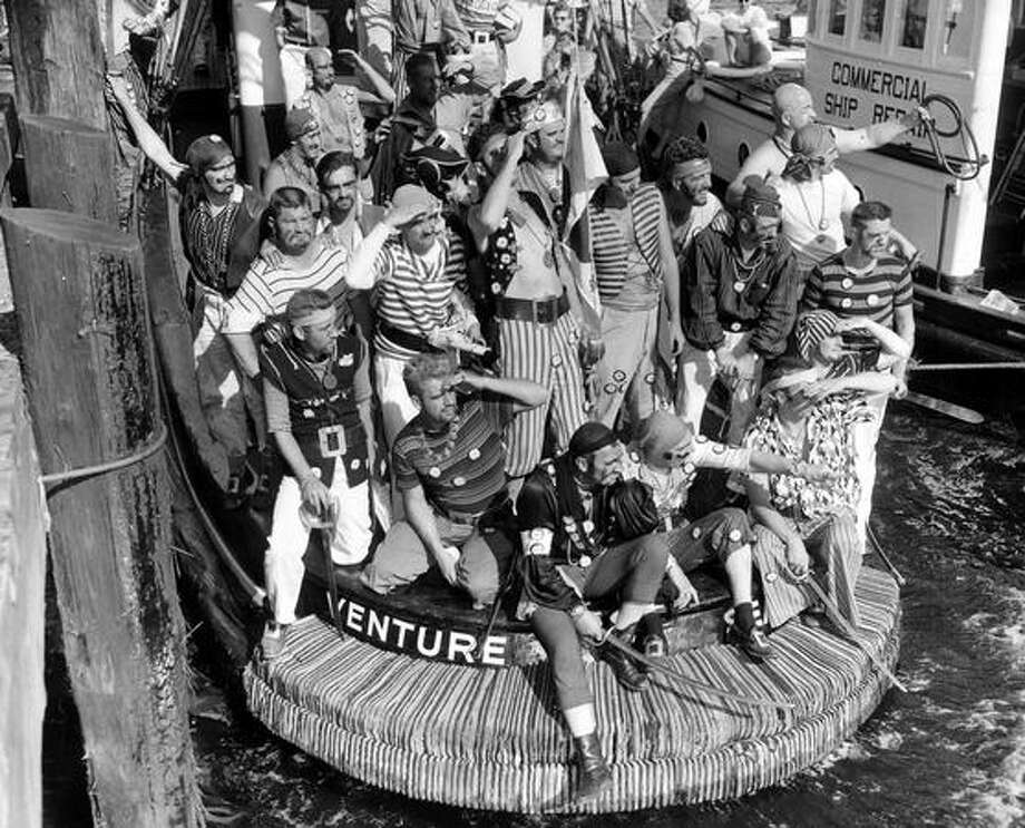 Seafair Pirates, Aug. 1957. Photo: P-I File