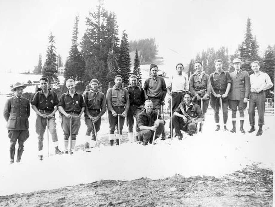 A search party at Paradise in Mount Rainier in July of 1929. Photo: P-I File