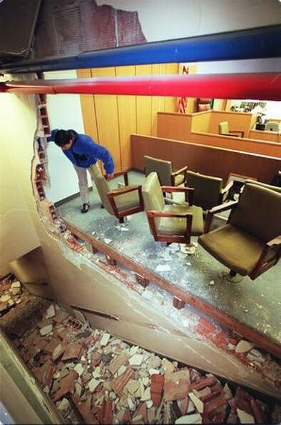 This is one of the P-I's  Nisqually earthquake pictures that was published. The original caption re