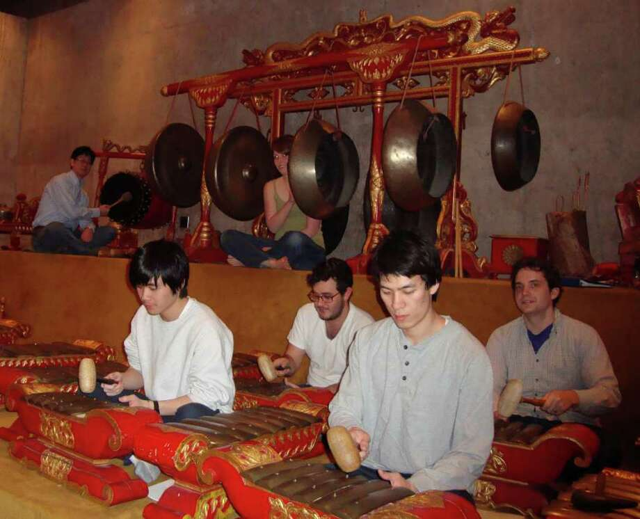 Wesleyan University's gamelan -- a traditional Indonesian musical ensemble -- will perform in Southport on Saturday, April 9, in a program that includes puppetry. Photo: Contributed Photo / Fairfield Citizen contributed