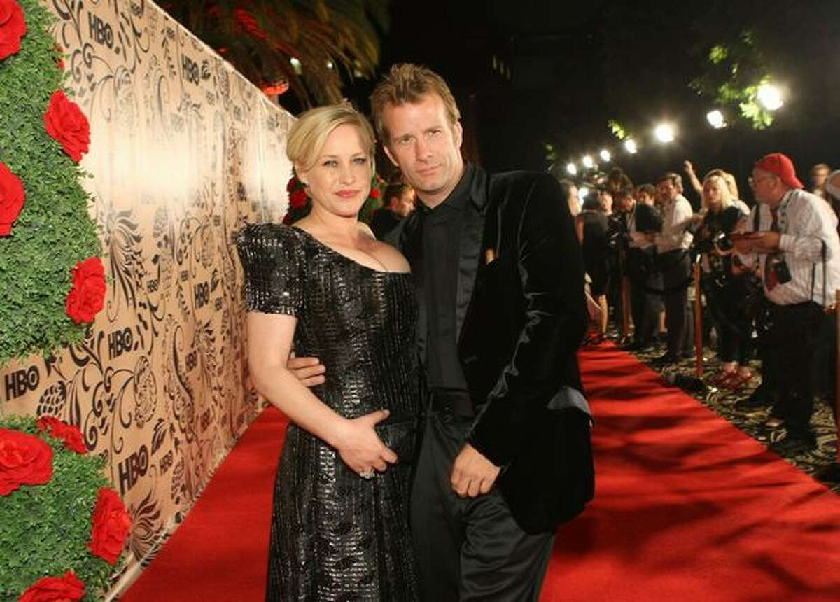 Actors Patricia Arquette and Thomas Jane attend HBO's post Emmy Awards reception.