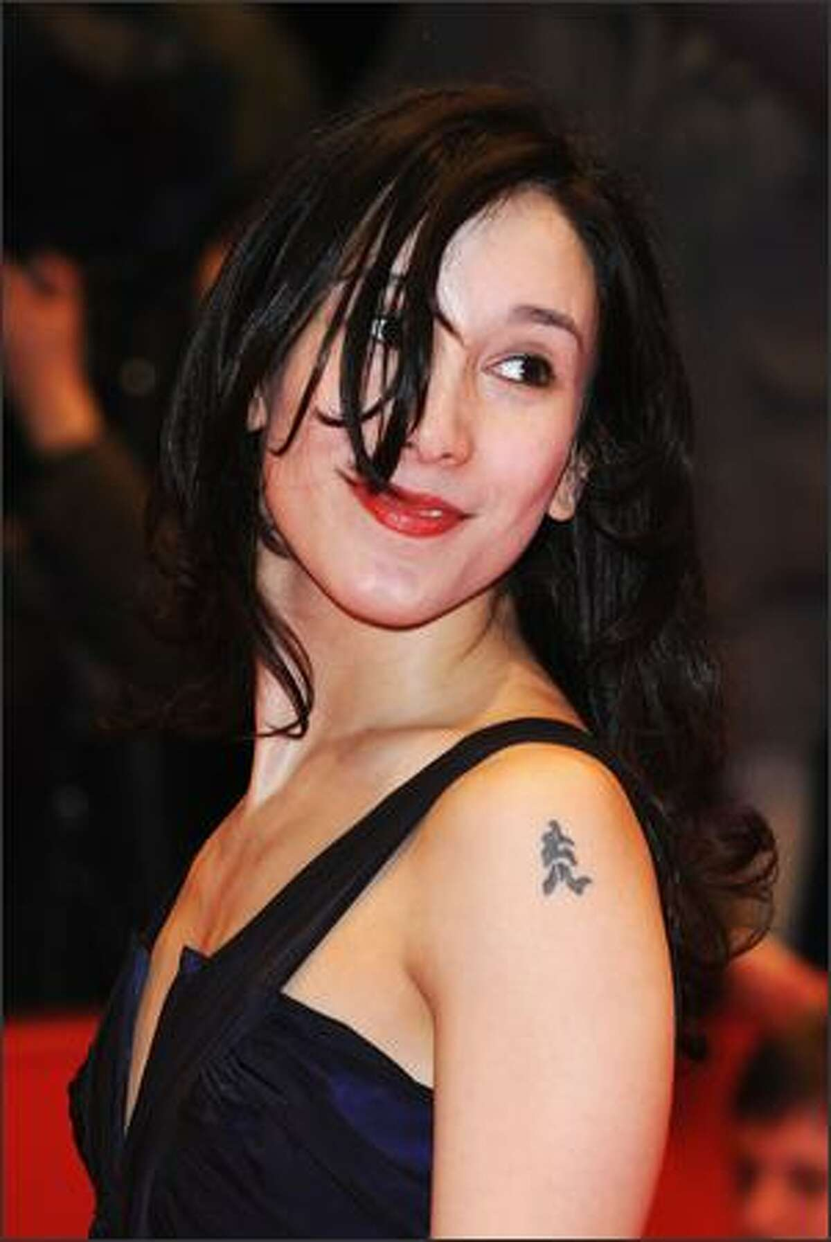 Actress Sibel Kekilli attends the 'Shine A Light' Premiere as part of the 58th Berlinale Film Festival at the Berlinale Palast on February 7, 2008 in Berlin, Germany.