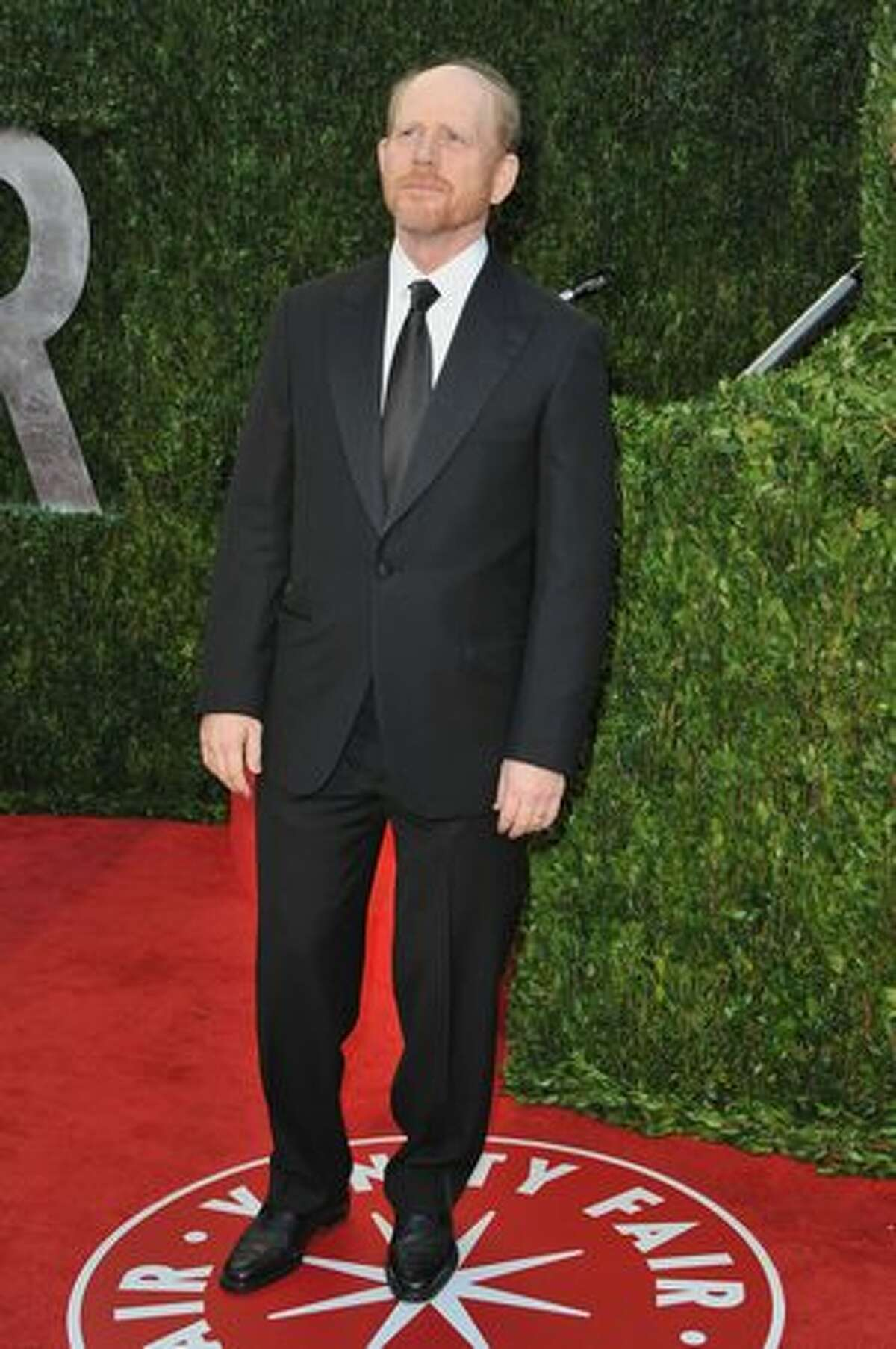 Director Ron Howard arrives at the Vanity Fair party.