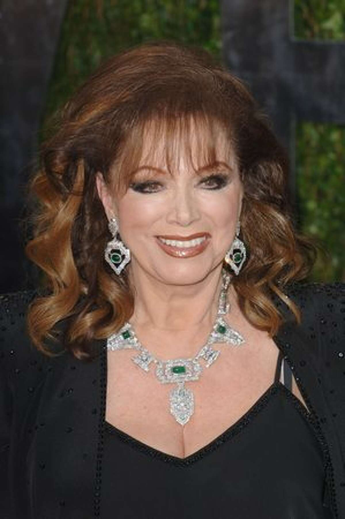Writer Jackie Collins arrives at the Vanity Fair party.