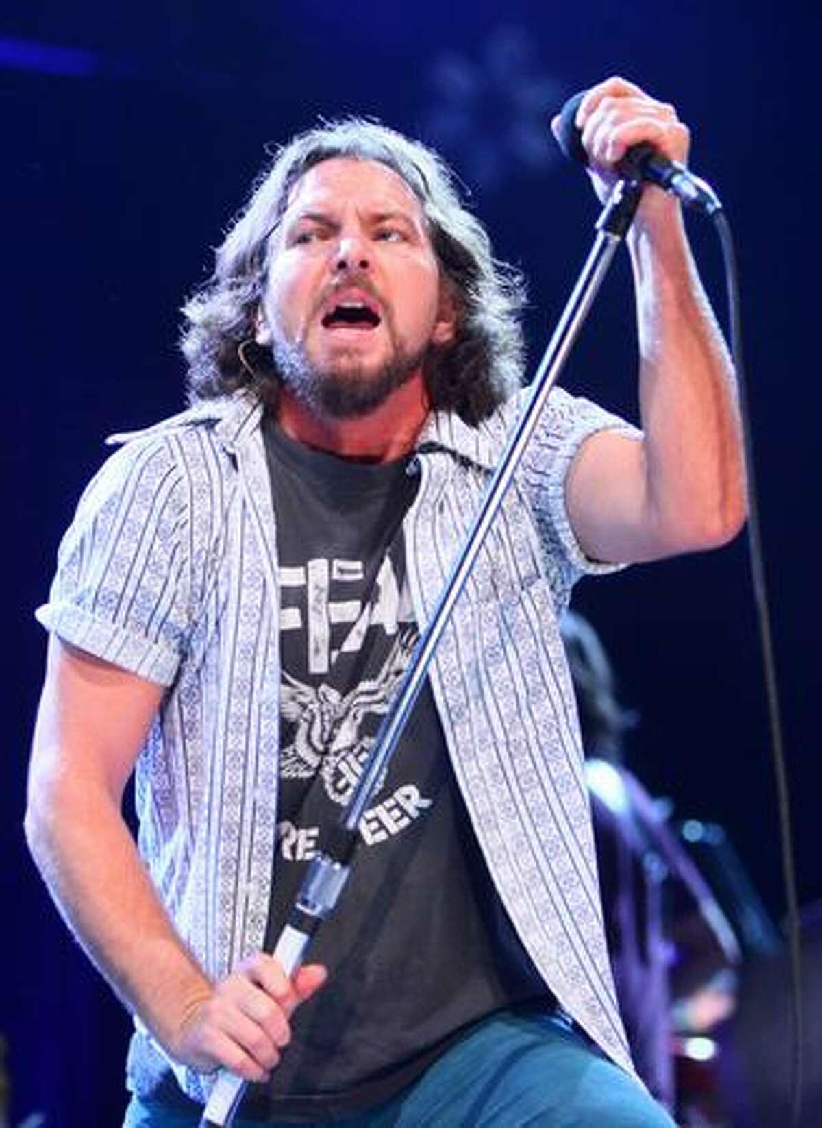 Eddie Vedder of Pearl Jam rocks KeyArena.
