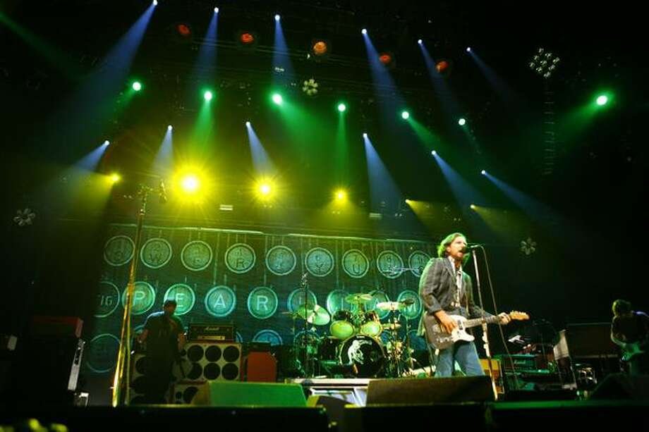 Eddie Vedder and the rest of Pearl Jam perform at KeyArena. Photo: Joshua Trujillo, Seattlepi.com