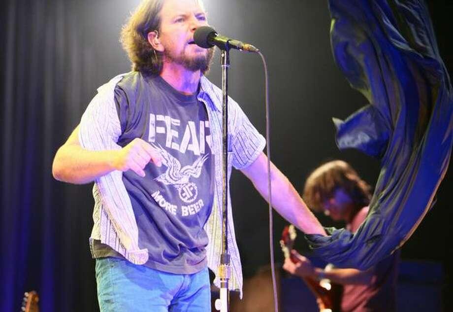 Eddie Vedder of Pearl Jam rocks KeyArena. Photo: Joshua Trujillo, Seattlepi.com