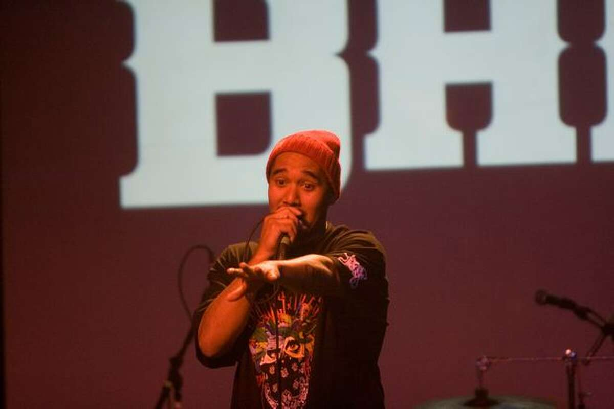Rapper Bambu of Los Angeles performing at Showbox at the Market before Blue Scholars on March 28, 2010.