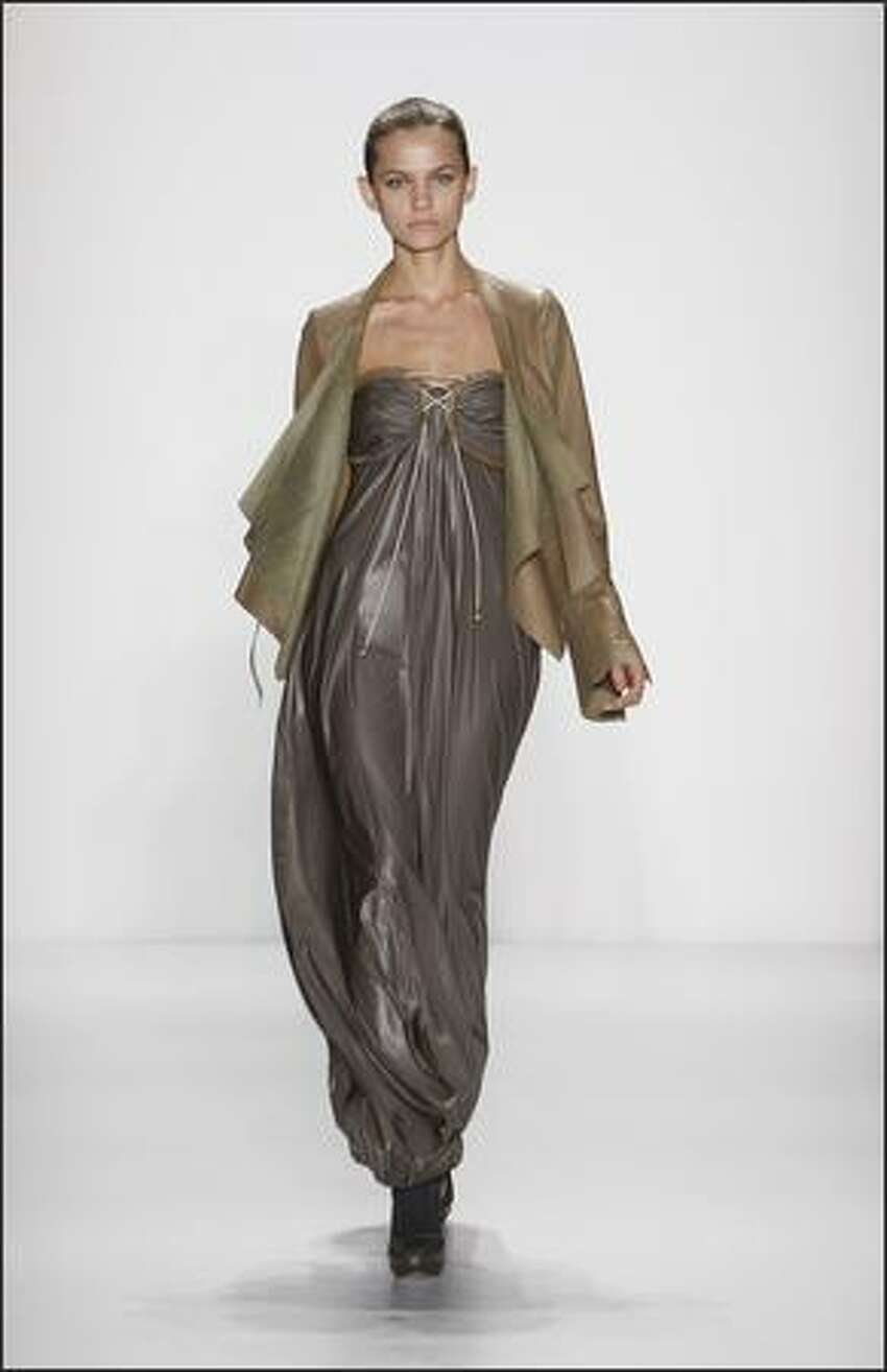 A model walks the runway at the Willow fall 2008 fashion show during Mercedes-Benz Fashion Week at The Salon at Bryant Park in New York.