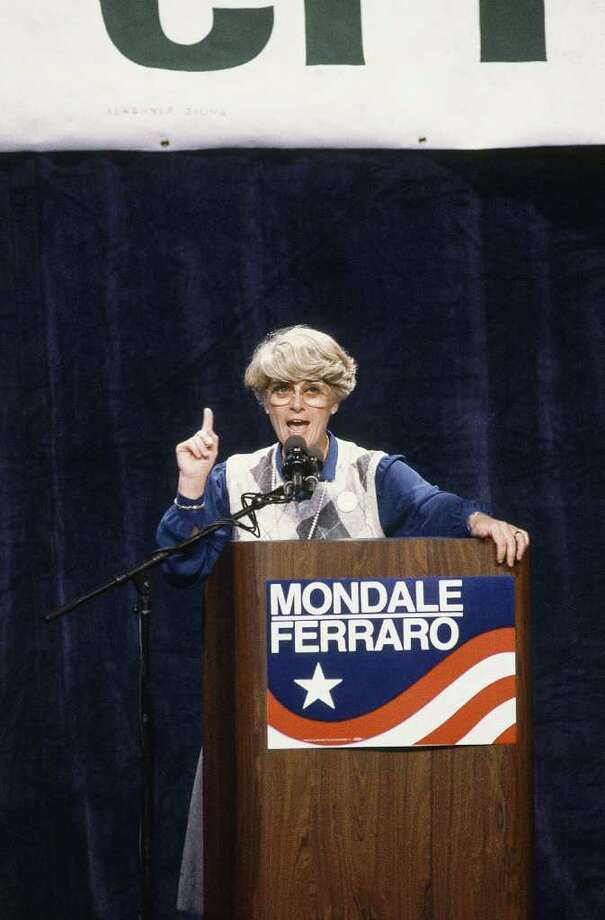 Geraldine Ferraro in Vernon in 1984. Photo: AP