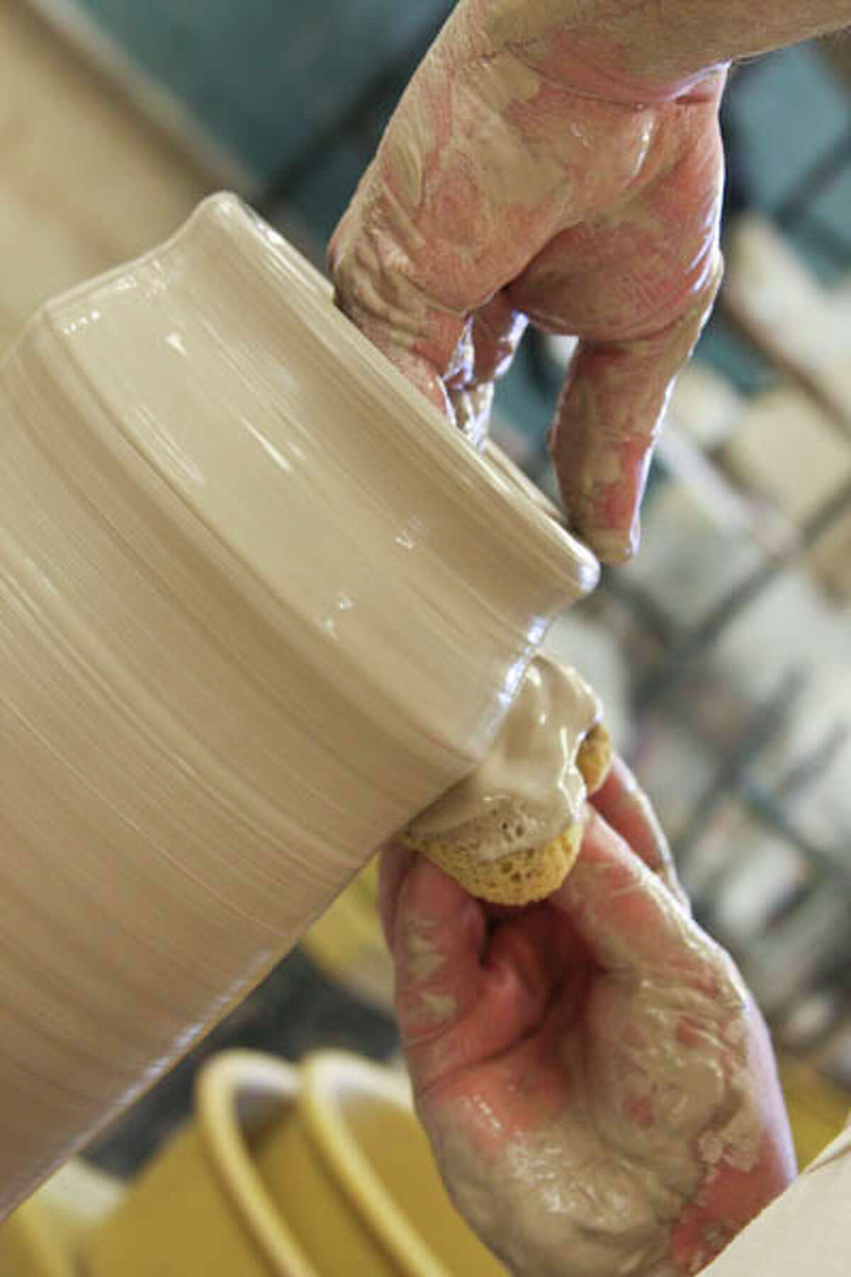 Our April Artisan, potter John Visser, loves to experiment. (Paul Barrett/Life@Home). Click here to read the story.
