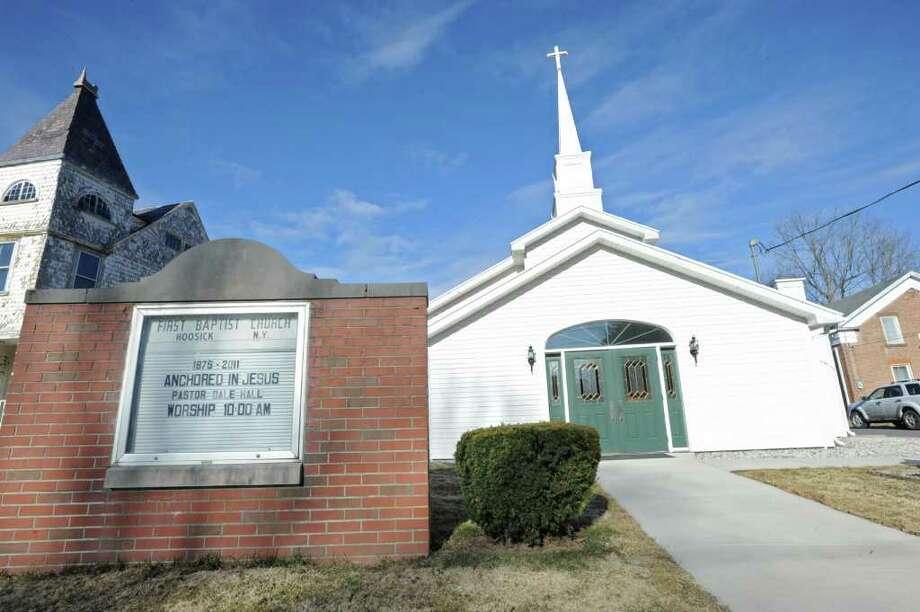 The First Baptist Church in Hoosick, NY, on March 28, 2011.  (Lori Van Buren / Times Union) Photo: Lori Van Buren