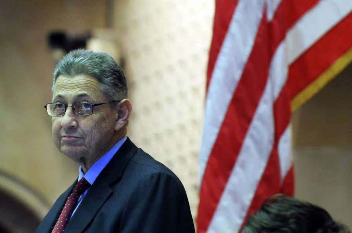 Assembly Speaker Sheldon Silver presides over a session in the Assembly chamber in the Capitol late Monday afternoon March 28, 2011 in Albany, NY. ( Philip Kamrass/ Times Union )