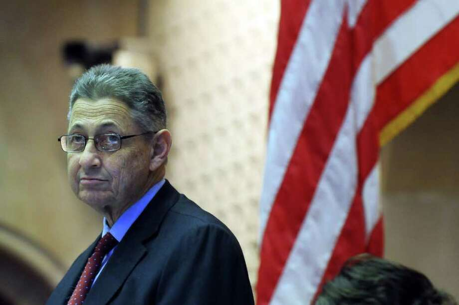 Assembly Speaker Sheldon Silver presides over a session in the Assembly chamber in the Capitol late Monday afternoon March 28, 2011 in Albany, NY.  ( Philip Kamrass/ Times Union ) Photo: Philip Kamrass