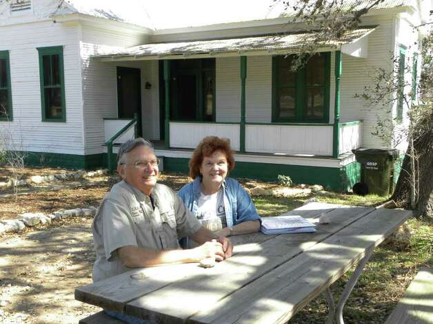 Bob and Nancy Gray are master naturalists and guides Honey Creek State Natural Area. The area is part of  Guadalupe River State Park. Though most families come to the state park for the river, it also  has 5.3 miles of hiking trails.  Honey Creek State Natural Area is only open to the public by  guided hike. Photo credit: Tara Dooley / DirectToArchive