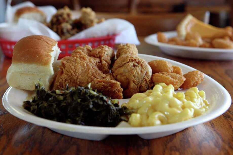 Chatman's ChickenAddress: 1747 S. W.W. White Road near Rigsby, 210-359-0245Why we like it: Chatman's Chicken is quickly prepared to order, but without the fast-food feeling. The flour has a nice sprinkling of salt and pepper on its own, or you can add lemon pepper or hot and spicy seasonings for a little more flavor. If you're feeling adventurous, try the fried chicken livers and gizzards. Photo: HELEN L. MONTOYA, SAN ANTONIO EXPRESS-NEWS / hmontoya@express-news.net