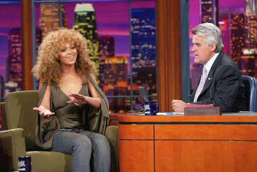 "Beyonce Knowles at ""The Tonight Show with Jay Leno"" at the NBC Studios in Burbank, Ca. Tuesday, July 23, 2002. Photo by Kevin Winter/ImageDirect Photo: Kevin Winter, Getty Images / Getty Images North America"