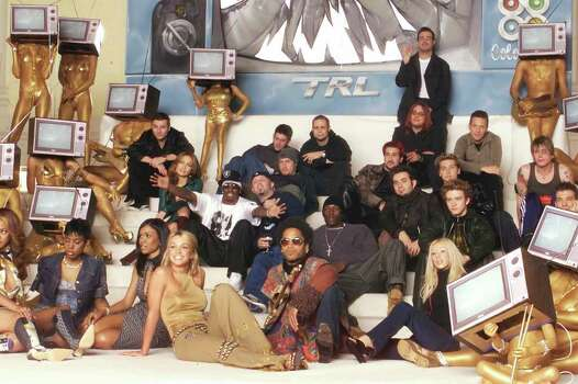Destiny's Child, Britney Spears, Lenny Kravitz, Christina Aguilera, Jennifer Lopez, Sean 'Puffy' Combs, Limp Bizkit, Tyrese Gibson, N'Sync and Goo Goo Dolls pose for a photo for photographer David LaChapelle. (Photo by Scott Gries/ImageDirect) Photo: Scott Gries, Getty Images / Getty Images North America