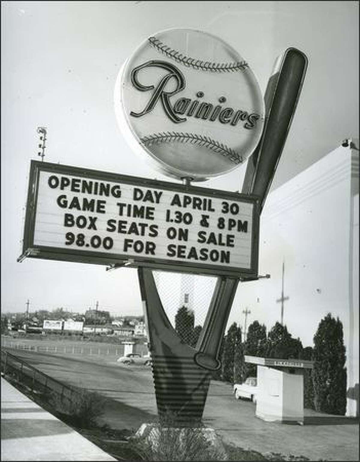 Click through the gallery to see the fun, funky, historic Seattle places we miss, and the memories we have of them>>> The Seattle Rainiers, a Pacific Coast League team, played at Sick's Stadium on Rainier Avenue South. Season tickets for the 1957 were less than $100. (March 2, 1957)