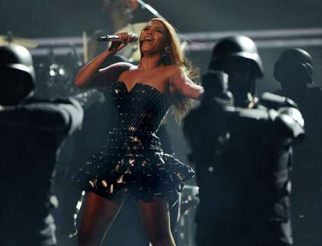 Beyonce performs on stage at the 52nd Grammy Awards in Los Angeles on January 31, 2010.        AFP PHOTO/Robyn BECK Photo: ROBYN BECK, AFP/Getty Images / 2010 AFP