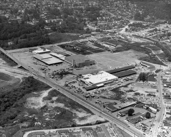University Village construction, 1956. (seattlepi.com) Photo: P-I File