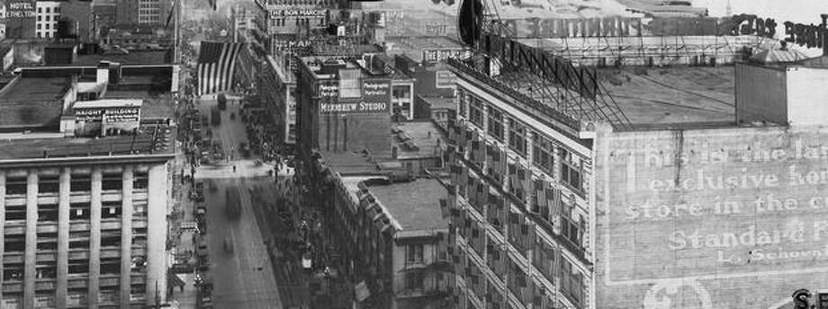 The caption for this photo indicates it shows Second Avenue in June 1927. Photo: P-I File
