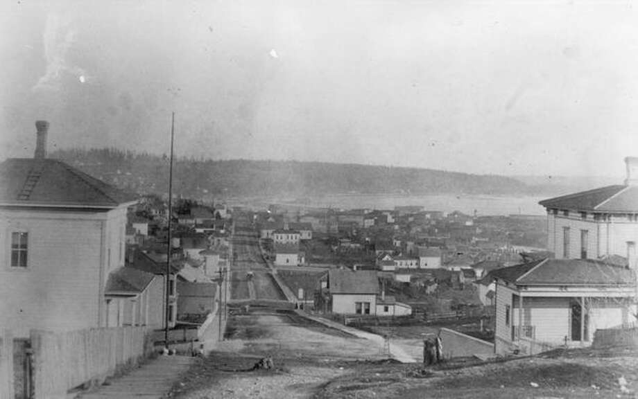 The caption for this photo indicates it shows Second Avenue in 1884. Photo: P-I File