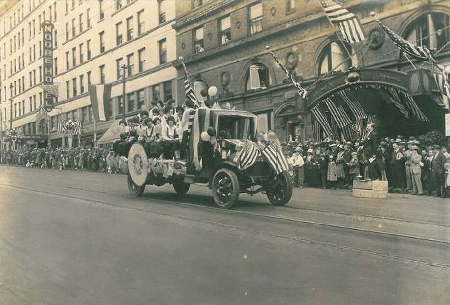 A Fourth of July parade in Seattle, 1925. Photo: P-I File