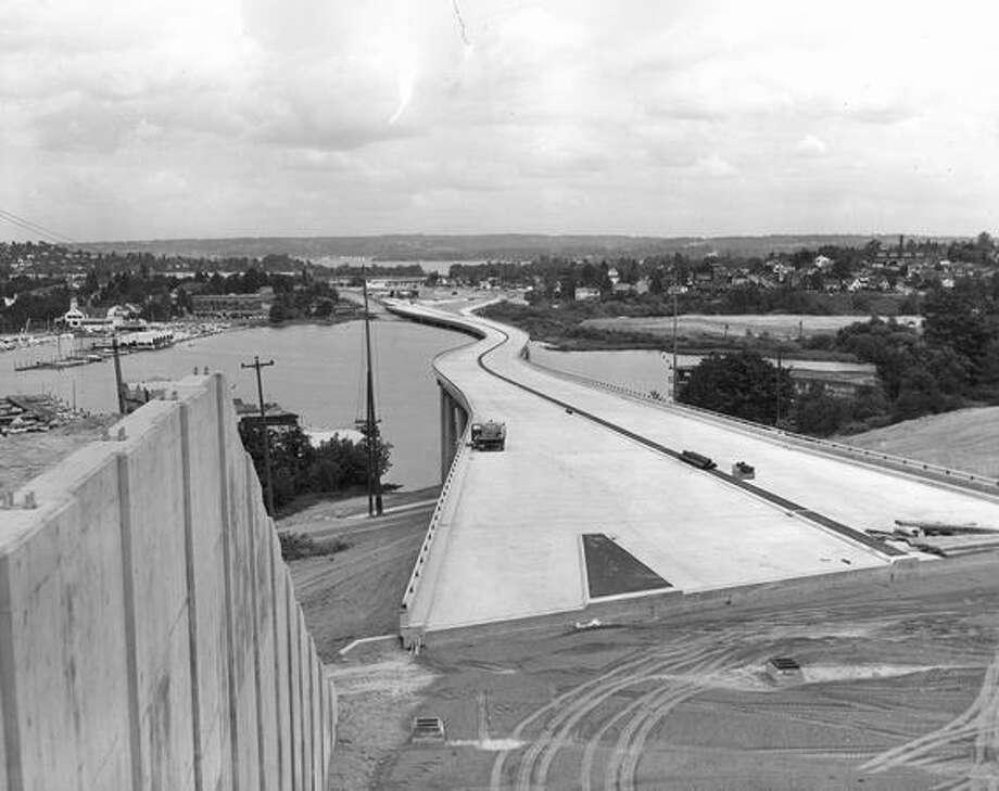 The 520 bridge, June 1963. Photo: P-I File