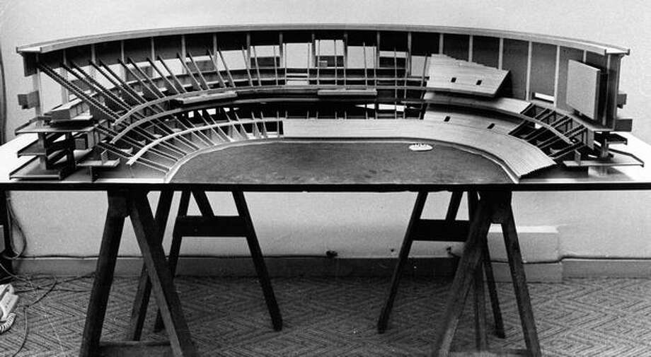 A February 1972 model showing part of what became the Kingdome. Photo: P-I File