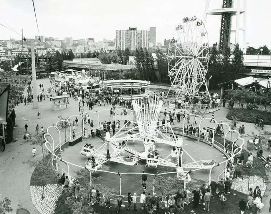 The Seattle Center Fun Forest in 1972. (Bob Carver/Seattlepi.com file) Photo: P-I File
