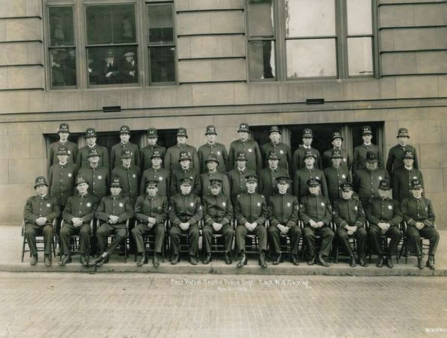 First Patrol Seattle Police Department. November 11, 1919. Photo: P-I File