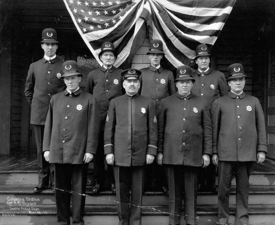 Columbia Station. Seattle Police Department. November 12, 1919. Photo: P-I File