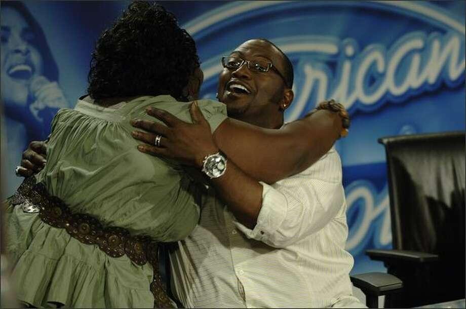 Brittany Wescott hugs judge Randy Jackson at the Miami auditions Photo: Fox
