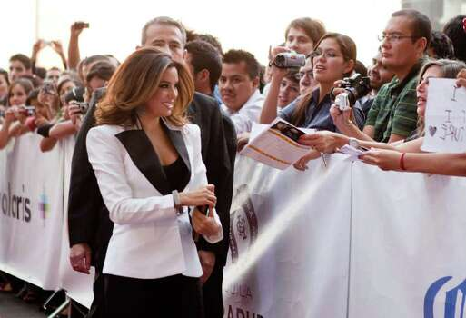 Eva Longoria arrives at the Guadalajara International Film festival in Guadalajara, Mexico, Saturday March 26, 2011. Photo: AP